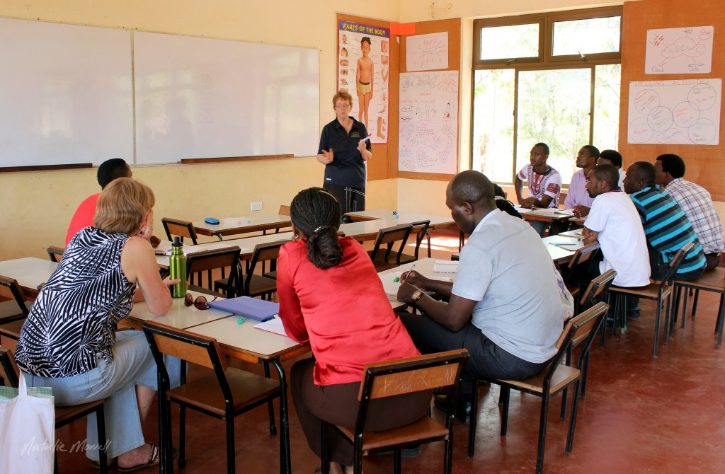 Kaye teaching the teachers